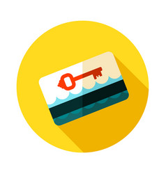 electronic keycard icon summer vacation vector image