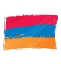 Grunge armenia flag vector