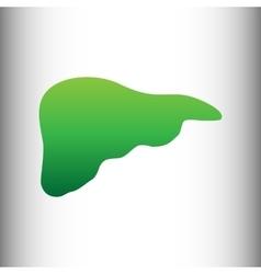 Human anatomy green gradient icon vector
