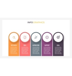 Infographic element chart with 5 steps labels vector image vector image