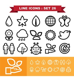 Line icons set 26 vector