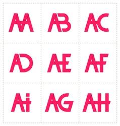 Modern minimalis initial logo 1 vector