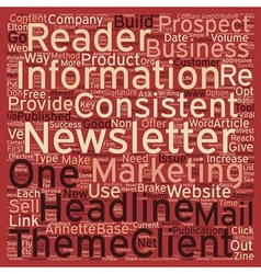 Must Haves for A Successful E Newsletter text vector image vector image