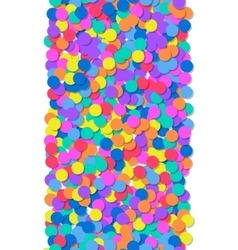 Pattern of colorful confetti Festive background vector image vector image