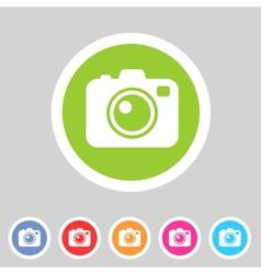 Photo camera flat icon vector image