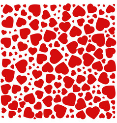 Red purple heart pattern of the icons of hearts vector