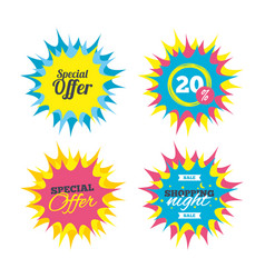 special offer sign icon sale symbol vector image