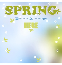 Spring is here words vector