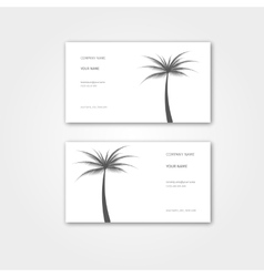 Summer business card with palm for travel agency vector
