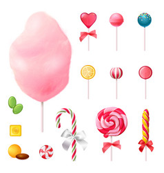 Sweets realistic icons set vector