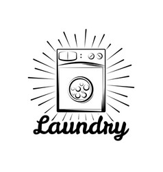 Washing machine laundry room and dry cleaning vector