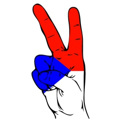 Peace sign of the czech flag vector