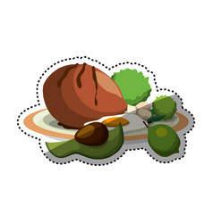 Delicious and healthy food vector