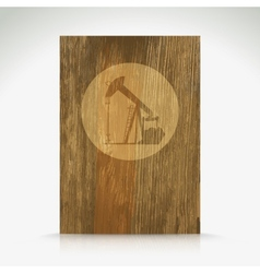 Shiny icon with brown design on wooden background vector image