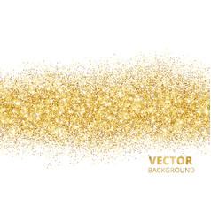 sparkling glitter border isolated on white vector image