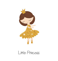 Cartoon princess girl cartoon princess girl vector