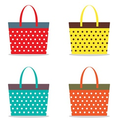 Colorful Women Bags vector image