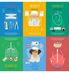 Medicine flat icons composition poster vector