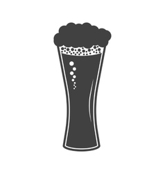 Beer in glass icon on white vector