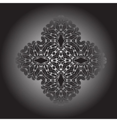 Gradient mandala Oriental abstract vector image