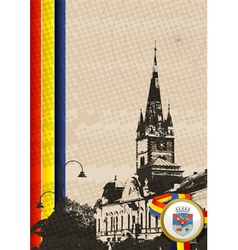 Romania church vector