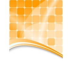 Orange abstract background with cells vector
