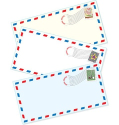 Air mail envelopes vector