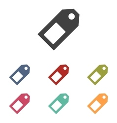 Price tag icons set vector