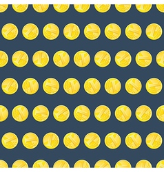 Golden coins seamless pattern vector