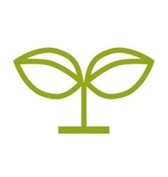 Ecological plant design vector