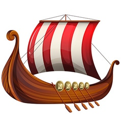 A vikings ship vector image vector image