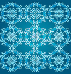 abstract blue seamless round ornament vector image