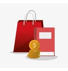 Bag and digital marketing design vector