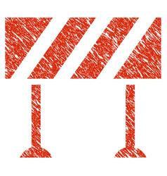 barrier icon grunge watermark vector image