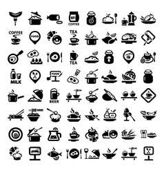 big food icon set vector image vector image