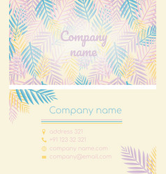 business card in a tropical style vector image