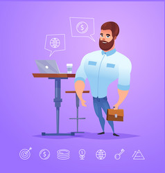 Business man character isolated vector