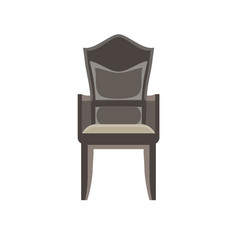 chair icon furniture office isolated design vector image vector image