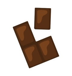 Chocolate pieces bars stack isolated on white vector image