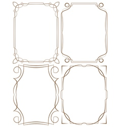 Delicate frames set on a white background vector