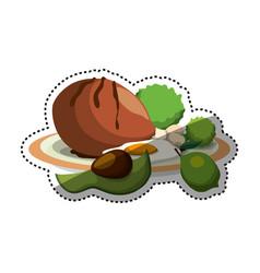 delicious and healthy food vector image vector image