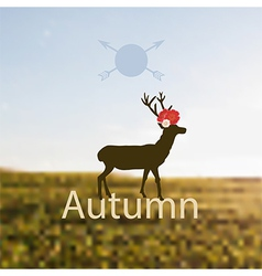 depicting Autumn vector image