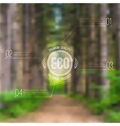 ecological blurred with road trees and eco vector image vector image