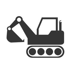excavator construction machinery icon vector image