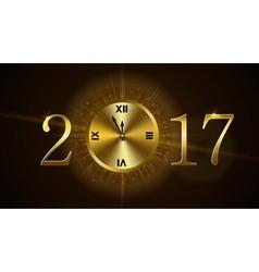 Happy New Year clock vector image vector image