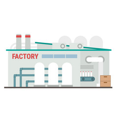 industrial manufacturing building vector image vector image