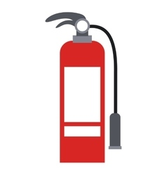 Isolated extinguisher of emergency design vector image