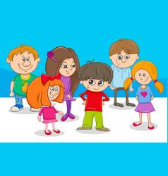 kid characters group cartoon vector image vector image