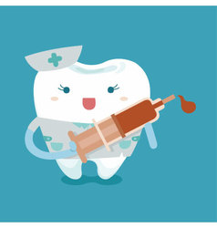 Lovely nurse of tooth vector image