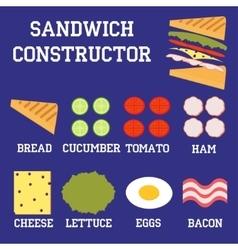 sandwich constructor vector image vector image
